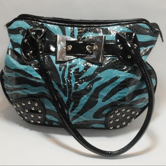 MC Handbags - MC Faux Snake Skin Double Strapped Handbag